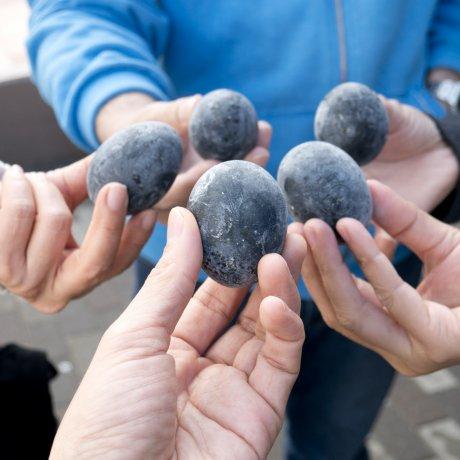 하코네 오와쿠다니의 검은 달걀들