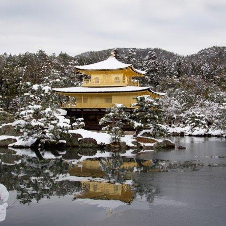 킨카쿠지 겨울 풍경